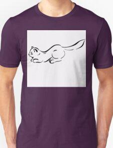 Figure cats black lines  Unisex T-Shirt