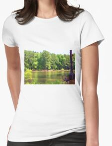 Lake Landscape Womens Fitted T-Shirt
