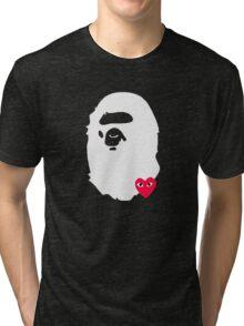 BAPE X COMME DES GARCON Tri-blend T-Shirt