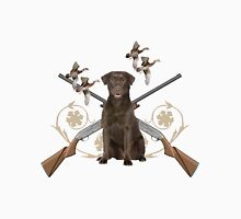 Chocolate Lab Hunts Unisex T-Shirt