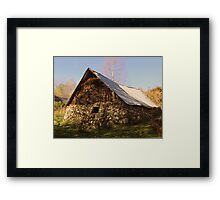 Barn in the shade Framed Print