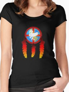 Earth Medicine-Goose  Women's Fitted Scoop T-Shirt