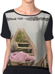 man on the boat Chiffon Top