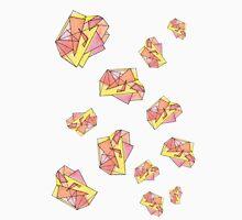 Triangulation on Peach Unisex T-Shirt