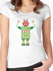 a humanoid 5 Women's Fitted Scoop T-Shirt