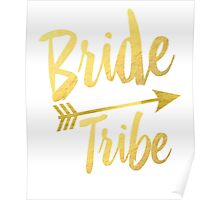 Bride Tribe Gold Foil Wedding Bachelorette Party Hens Night Favors Gifts Tribal Arrow Poster
