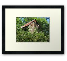 Barn in the forest Framed Print