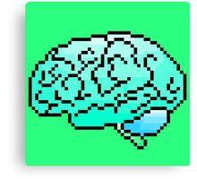 Pixel Art Brain 8-Bit Canvas Print