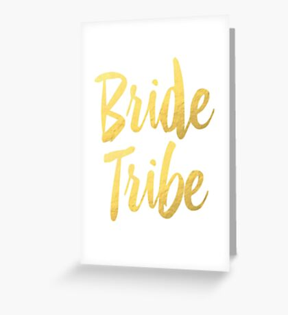 Bride Tribe Gold Foil Wedding Bachelorette Party Hens Night Favors Gifts Greeting Card