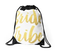 Bride Tribe Gold Foil Wedding Bachelorette Party Hens Night Favors Gifts Drawstring Bag