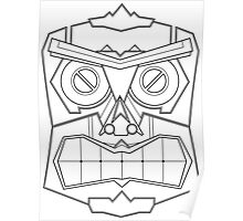 Vector Mask Four - Black & White Poster