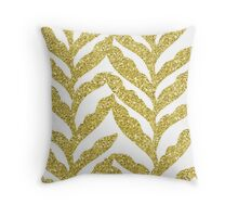 Gold leaves  Throw Pillow
