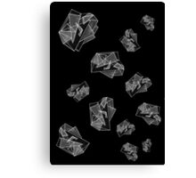 Triangulation in Black and White Canvas Print