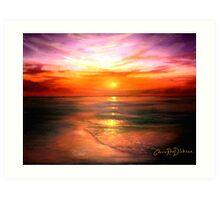 Purple Skyline Art Print