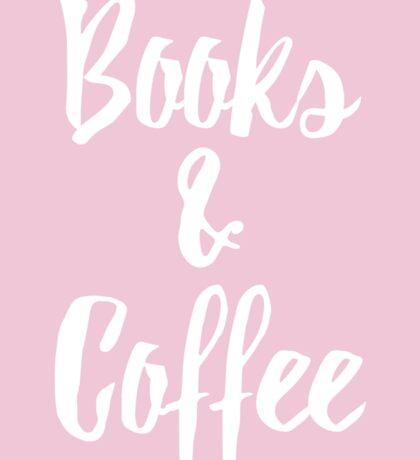 Books & Coffee // Pink Sticker
