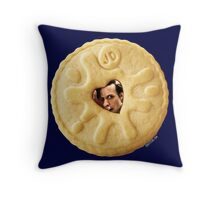 Doctor Who - Matt Smith 11th Doctor Trapped in a Jammie Dodger Throw Pillow