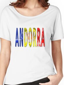 Andorra Word With Flag Texture Women's Relaxed Fit T-Shirt