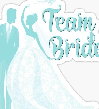 Team Bride Limpet Shell Aqua Blue Pantone Wedding Color Bachelorette Party Bridal Groom Sticker