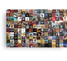 Classic rock covers - collage Metal Print