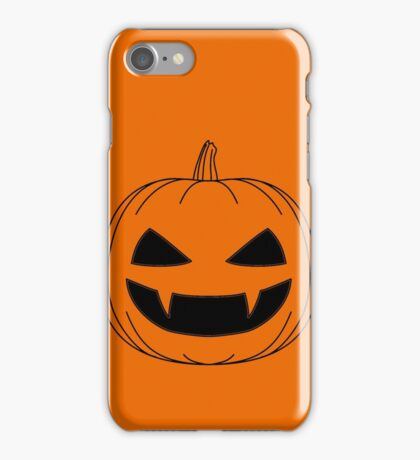 Halloween - Jack o lantern transparant iPhone Case/Skin