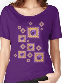 Purple Wildflower Women's Relaxed Fit T-Shirt
