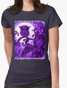 Nyx Of The Night (Purple) Womens Fitted T-Shirt
