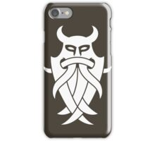 Odin's Mask Tribal (white) iPhone Case/Skin