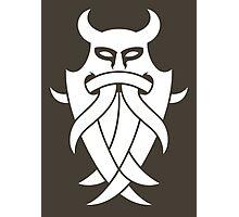 Odin's Mask Tribal (white) Photographic Print