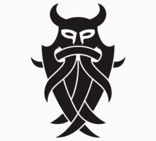 Odin's Mask Tribal (black) One Piece - Short Sleeve