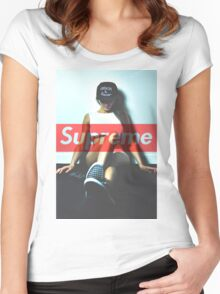 Supreme Cocaine & Caviar Women's Fitted Scoop T-Shirt