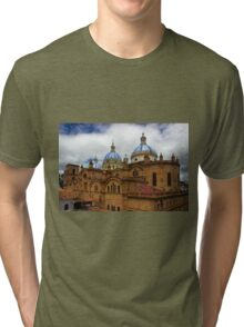 Rear Corner View Of Immaculate Conception Cathedral Tri-blend T-Shirt