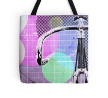 Cycling Mixed Media Illustration Tote Bag