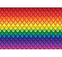 Dragon Scales (rainbow) Photographic Print