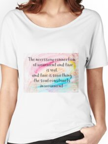 Inspirational quote over water color background Women's Relaxed Fit T-Shirt