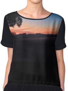 Colourful sunset Chiffon Top