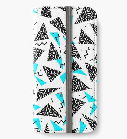 Missy - 80s Retro, Throwback Memphis Inspired Design iPhone Wallet