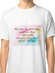 Inspirational quote over water color background Classic T-Shirt
