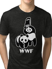 WWF Chair Funny Tri-blend T-Shirt