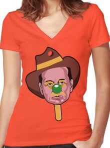 BUBBLE O'BILL MURRAY Women's Fitted V-Neck T-Shirt