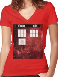 Through Time and Space Women's Fitted V-Neck T-Shirt