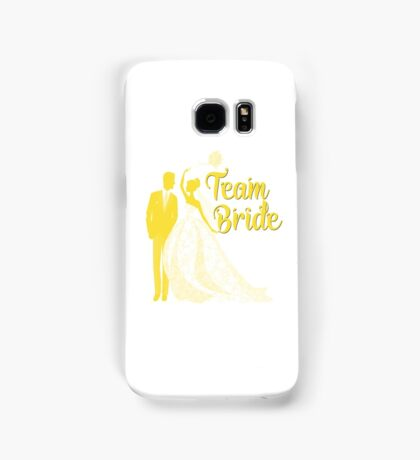 Team Bride Buttercup Yellow Pantone Wedding Color Bachelorette Party Bridal Groom Samsung Galaxy Case/Skin