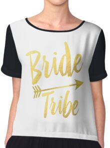 Bride Tribe Gold Foil Wedding Bachelorette Party Hens Night Favors Gifts Tribal Arrow Chiffon Top