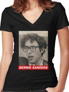 Throwback Bernie Sanders Women's Fitted V-Neck T-Shirt