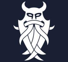 Odin's Mask Tribal (white) Kids Tee