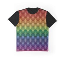 Rainbow Cross Hatch Graphic T-Shirt