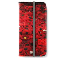 Thousands Of Poppies iPhone Wallet/Case/Skin