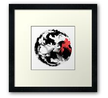 Psychedelic Dreaming Rorschach Black & White Ink Girl Framed Print