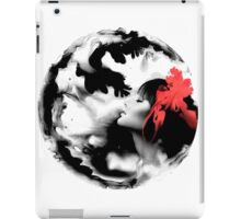 Psychedelic Dreaming Rorschach Black & White Ink Girl iPad Case/Skin