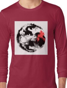 Psychedelic Dreaming Rorschach Black & White Ink Girl Long Sleeve T-Shirt