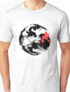 Psychedelic Dreaming Rorschach Black & White Ink Girl Unisex T-Shirt